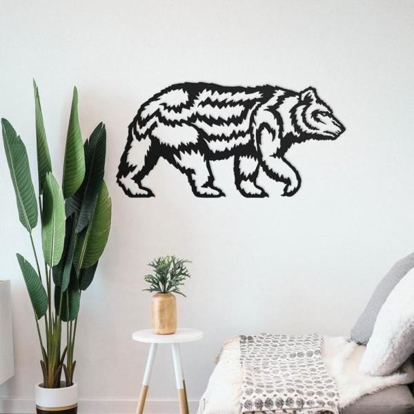 Grizzly Bear Wall Art, Metal Wall Decor, Metal Wall Art