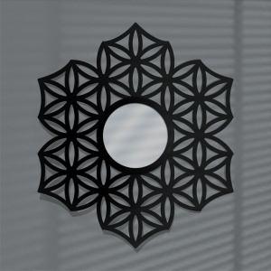 Laser Cut Decorative Mirror Wall Mirror Flower of Life Vector Files
