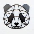Laser Cut Geometric Panda Bear Hanging Animal Wall Decor
