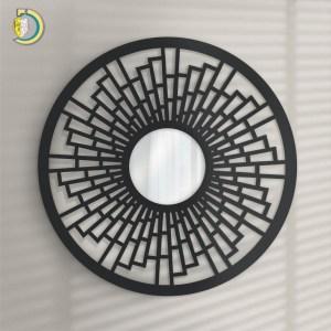Laser Cut KAMBIO Mirror Wooden Wall Frame Vector Files