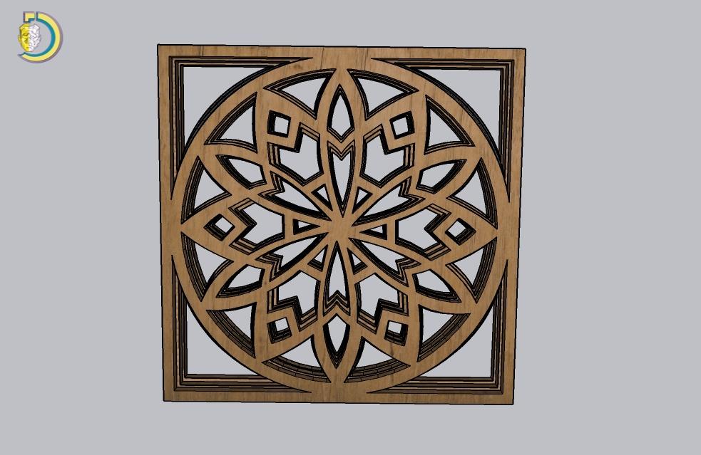 Laser Cut Layered Mandala Plywood Free Vector