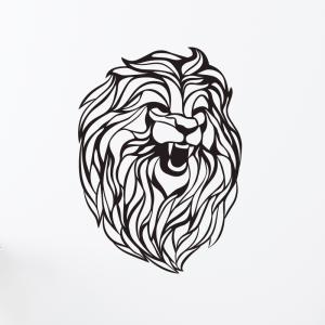 Laser Cut Lion King Wood, Metal 3mm Vector Cut Files