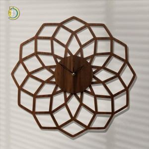 Laser Cut Nati Clock Wooden Wall Clock Vector