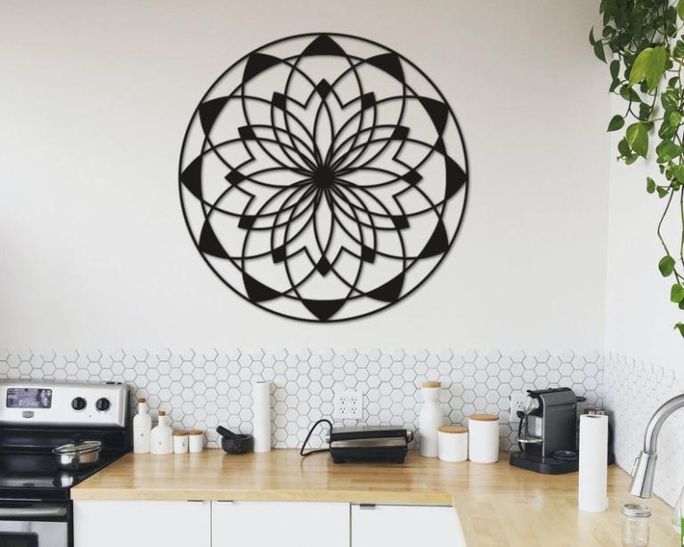 Mandala Decor Metal Wall Art Home Decor Gift
