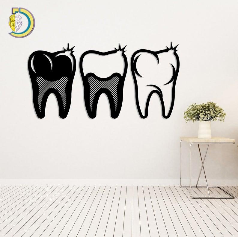 Metal Wall Art Dental Design Metal Art Dentist Free Vector