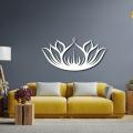 Metal Wall Decor, Lotus Wall Art, Yoga Wall Decor, Flower Sign