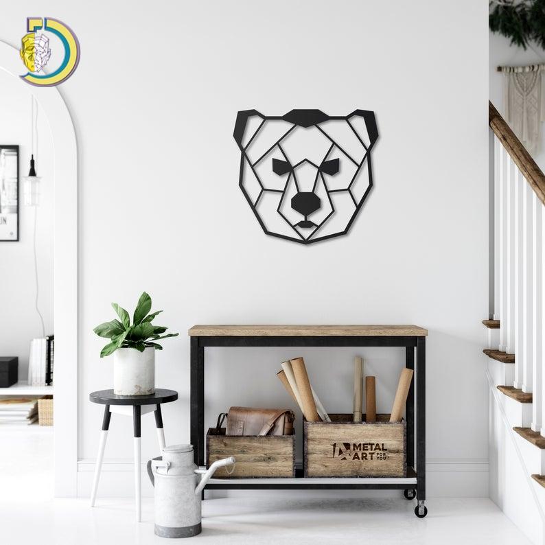 PolyBear Metal Wall Art Metal Wall Decoration Free Vector