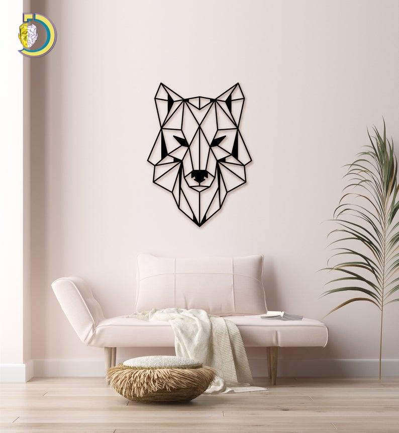 Wolf Wall Decor Geometric Wolf Wall Art Free Vector