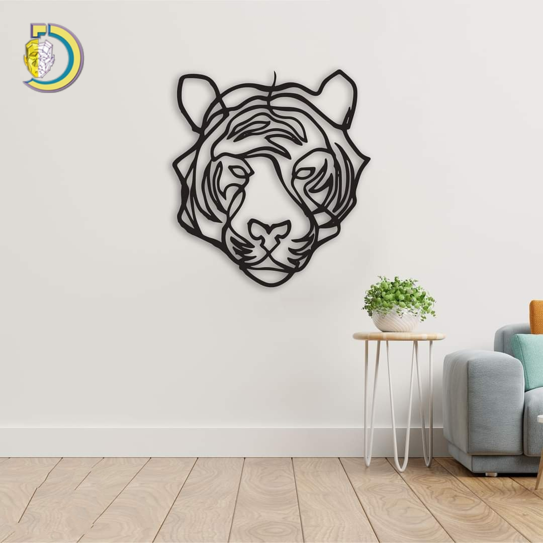 Laser Cut Lion Wall Decor SVG DXF Free Vector
