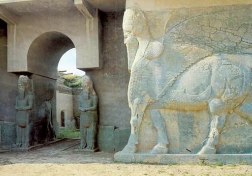 Ruinele anticului oraş Nimrud distrus cu buldozerele (1)