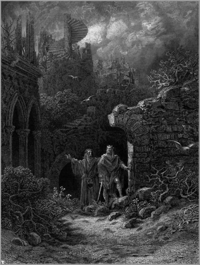 Gravură de Gustave Doré. Sursă Wikipedia.