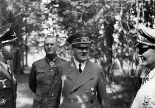 Werner Mölders bei Adolf Hitler