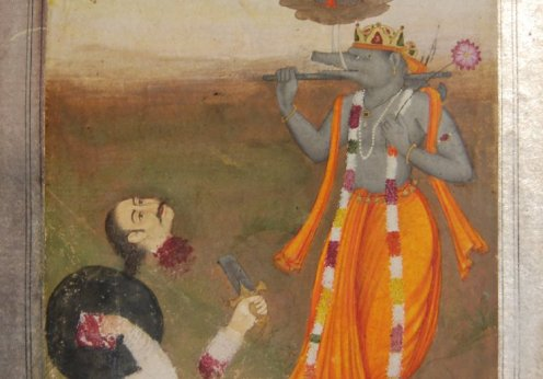 The_boar_avatar_Varaha,_the_third_incarnation_of_Viṣṇu,_stands_in_front_of_the_decapitated_body_of_the_demon_Hiranyaksha