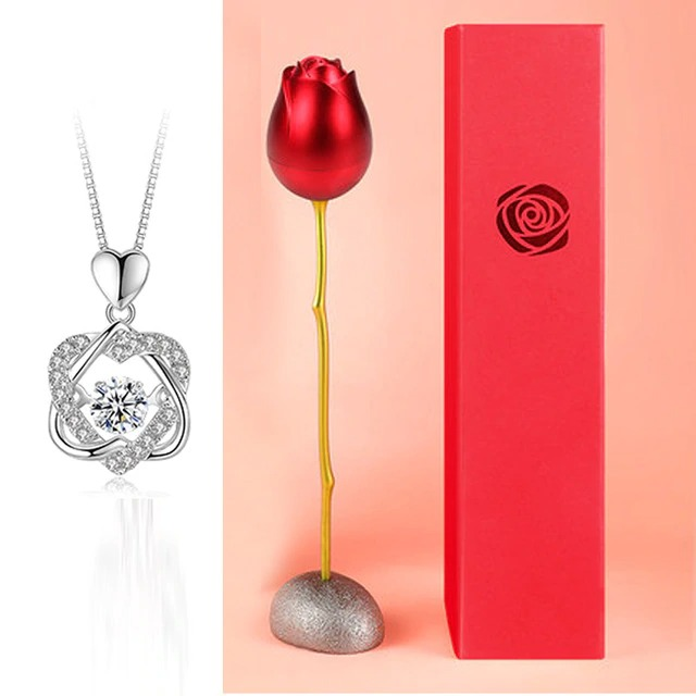 S Necklace Red Box