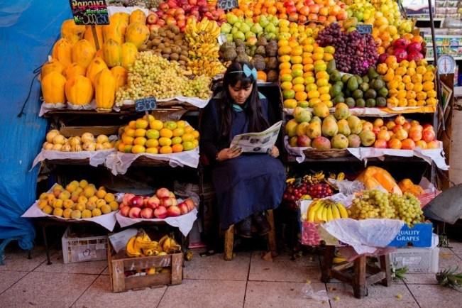 Exotische Früchte, soweit das Auge blickt