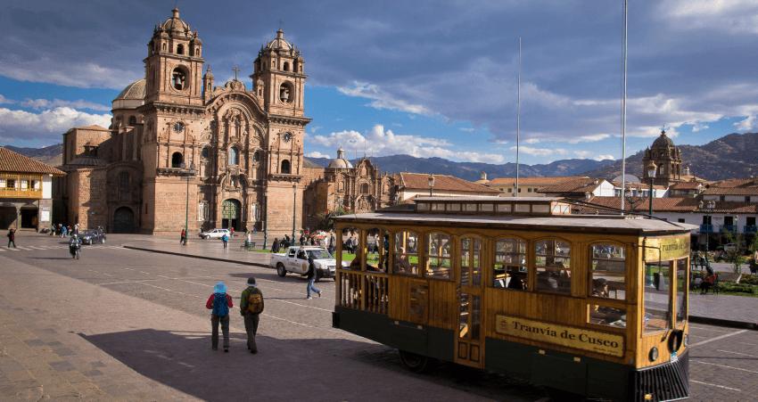 Die Plaza de Armas von Cusco.