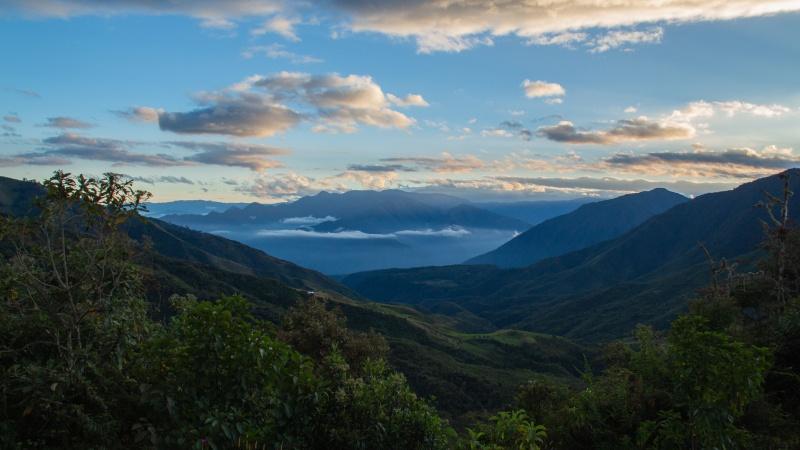 Yunguilla bei Sonnenaufgang.