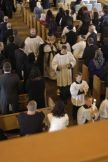 A view of the celebrant and servers coming down the aisle.
