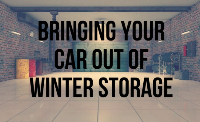 Image result for How to bring your car out of storage