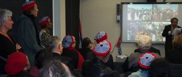 Jacob Rumbiak-Minister for Foreign Affairs, Immigration, and Trade (Federal Republic of West Papua), and Hiska Bukorpioper's fabulous morning star berets