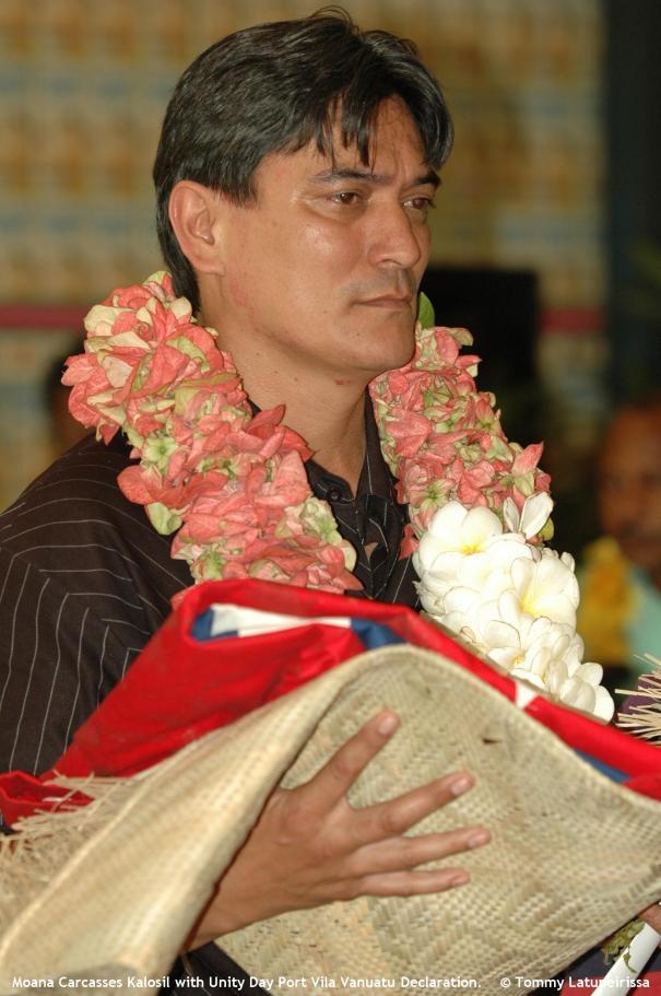 Moana Carcasses Kalosil with Unity Day Port Vila Vanuatu Declaration