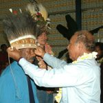 047. Exchange Ceremony, Chief Abel David and Dominggus Aronggear