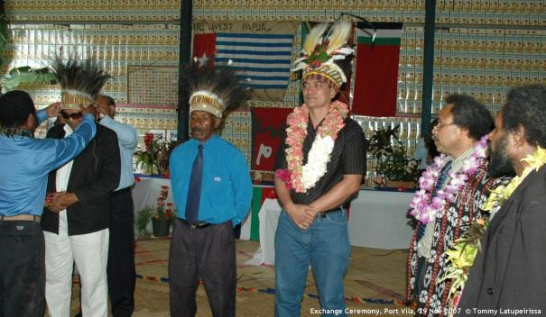 Exchange Ceremony, Port Vila, 29 Nov 2007