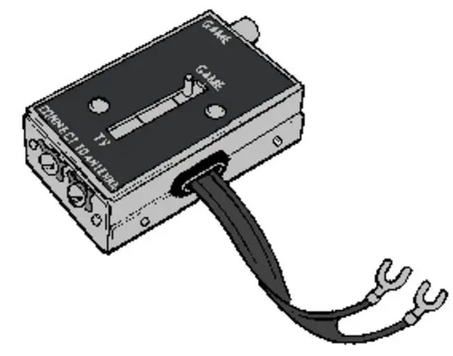 connect a Commodore 64 to a television via switchbox
