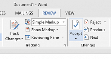 How to accept all changes in Word