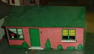 Skyline tin brick house