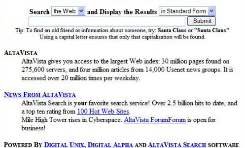 What happened to Altavista