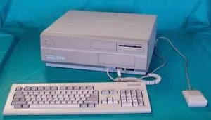 This is an Amiga 2000 that looks fairly pristine. Inside there was lots of room for hard drives, memory, CPU upgrades, and video devices.