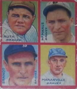 1935 Goudey Babe Ruth card