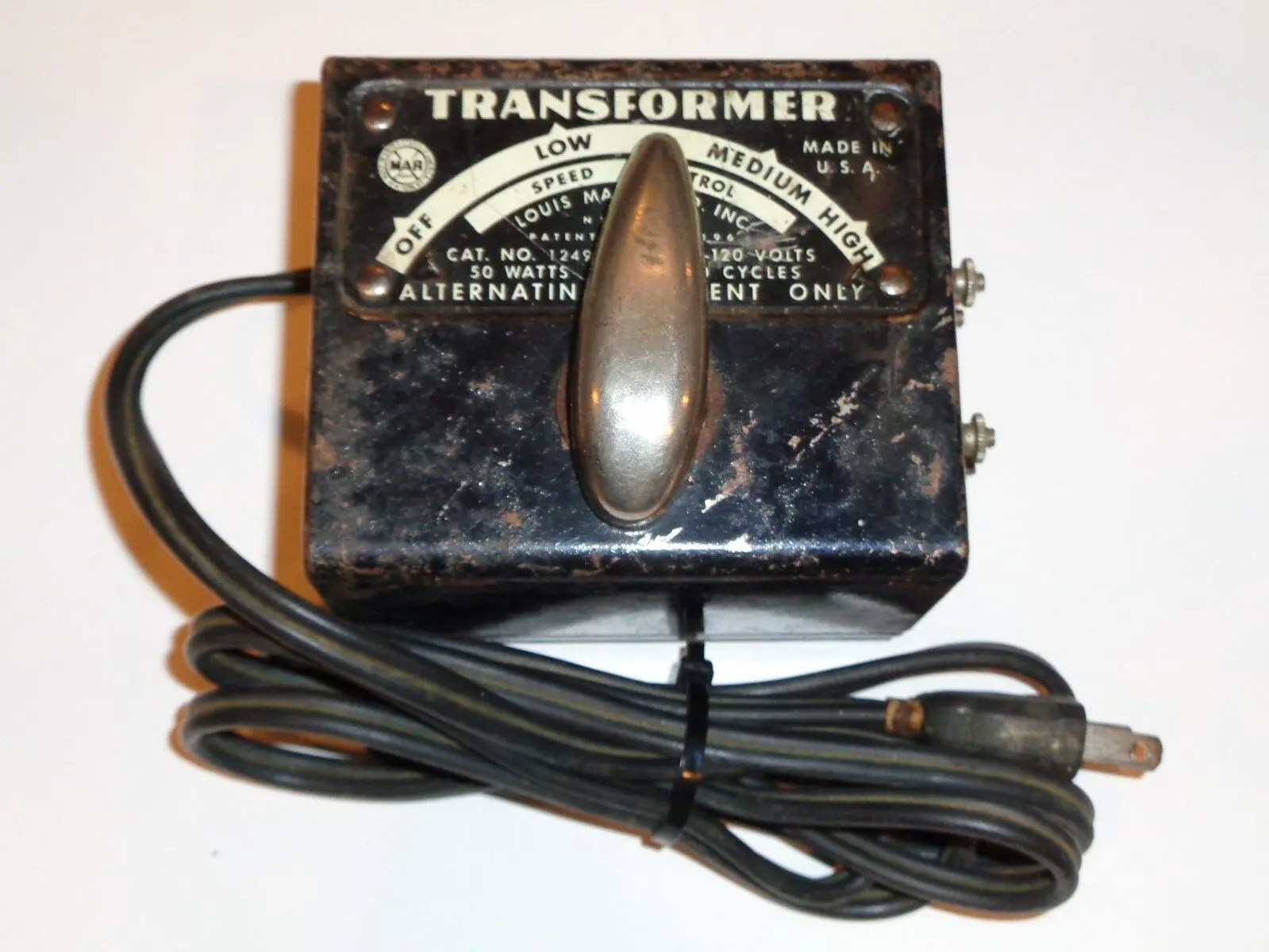 How the Marx 1249 transformer connects to track - The ... Marx Train Wiring Diagrams on train seats, train engine diagrams, train suspension, train parts, train horn diagrams, train drawings, train battery,
