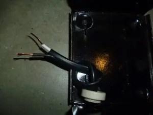 Marx 1209 new cord installation