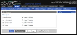 DD-WRT USB print server step 1