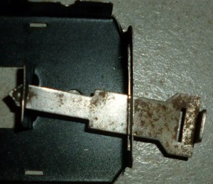 Marx sliding tab and slot coupler