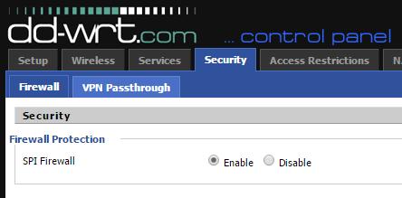 Using the DD-WRT firewall