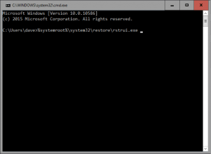 system restore from command prompt
