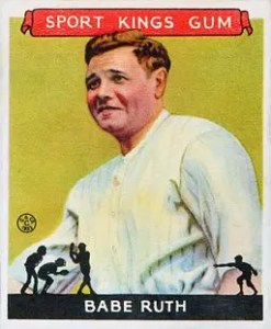 1933 Goudey Babe Ruth card from Sport Kings set