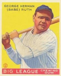 1933 Goudey Babe Ruth card #53