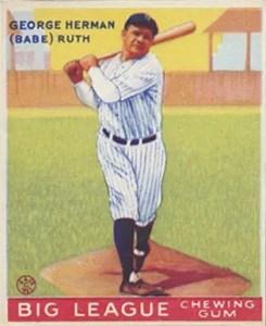 1933 Goudey Babe Ruth card #144
