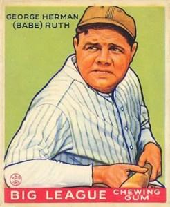 1933 Goudey Babe Ruth card #181