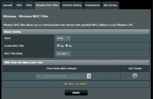 how does MAC address filtering help to secure a wireless network