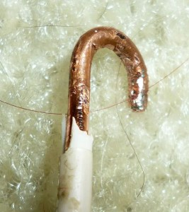 stop bathroom light bulb flickering - wire loop