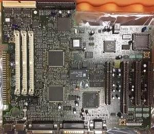 IBM PS/2 vs PC motherboard