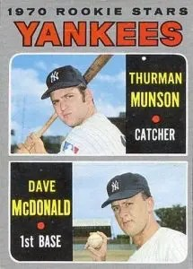 most valuable baseball cards of the 1970s - thurman munson