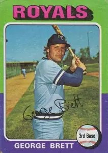 Most valuable baseball cards of the 1970s - George Brett