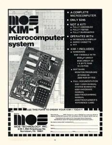 commodore computer models - kim-1