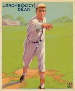 1933 goudey baseball cards - Dizzy Dean